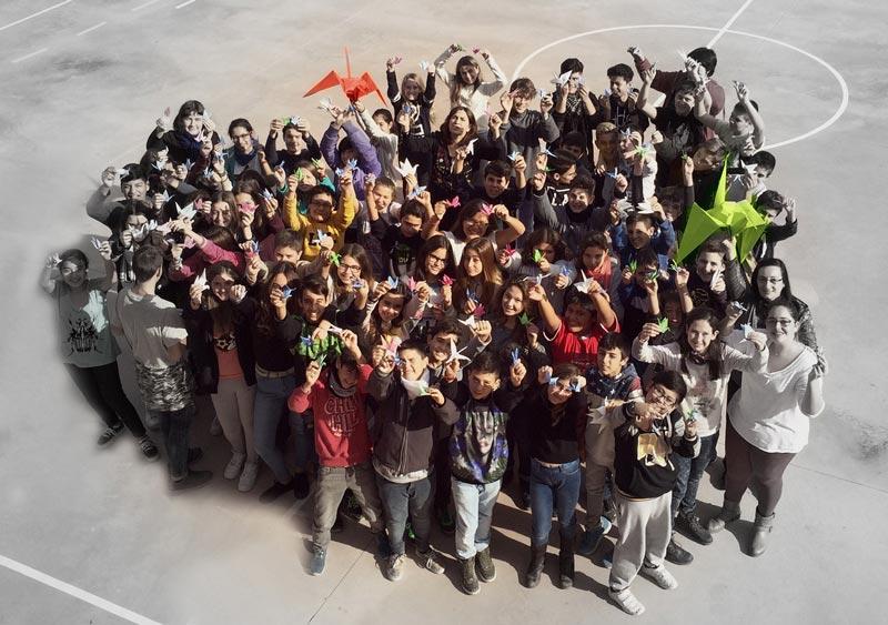 Alumnes de l'Escola Ginesta, de Montcada i Reixach