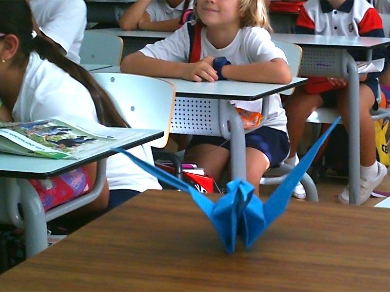 Taller d'origami a la classe