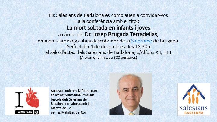 """Conferència """"La mort sobtada en infants i joves"""""""